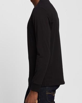 Guess LS Basic Classic Logo Tee - T-Shirts & Singlets (Jet Black)