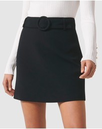 Forever New - Anabelle Belted Crepe Mini Skirt