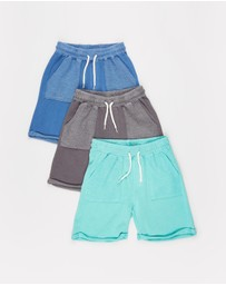 Cotton On Kids - 3-Pack Henry Slouch Shorts - Kids