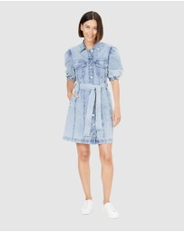 French Connection - Denim Puff Sleeve Dress