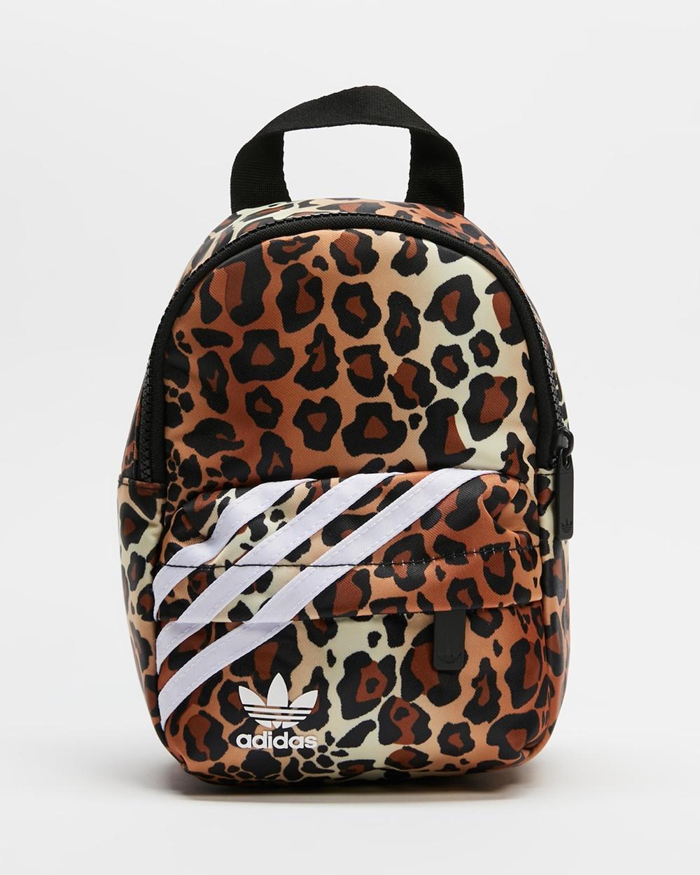 adidas Originals Mini Backpack Backpacks Brown & White