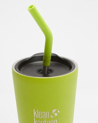 Klean Kanteen 16oz Insulated Tumbler with Straw Lid - Running (Juicy Pear)