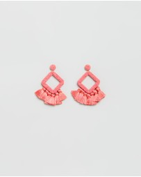 Laniyah Fringe Drop Earrings