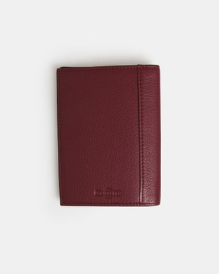 Globite Leather Passport Cover with RFID - Travel and Luggage (Mulberry)