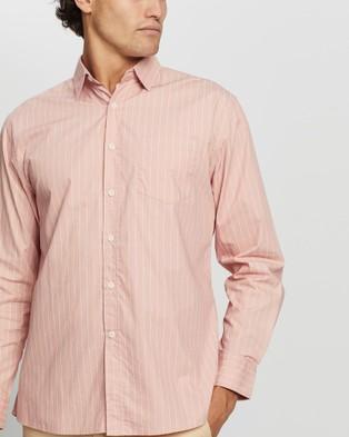 Justin Cassin Bailey Stripe Shirt - Casual shirts (Pink)