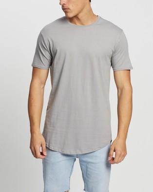 Factorie Curved T Shirt   3 Pack - T-Shirts & Singlets (Black, Steel & Beige)