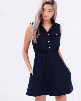 Buy A Brand - A Denim Dress - Dresses (Beverly Black) -  shop A Brand dresses online
