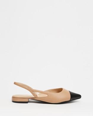 Jo Mercer Callista Dress Flats - Flats (Black & Beige Leather)