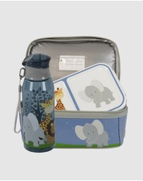 Bobbleart - Dome Lunch Bag Small Bento Box and Drink Bottle Safari