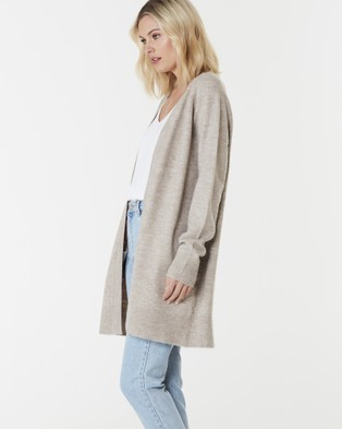 Everly Collective Brooklyn Short Cardigan - Jumpers & Cardigans (Chai)