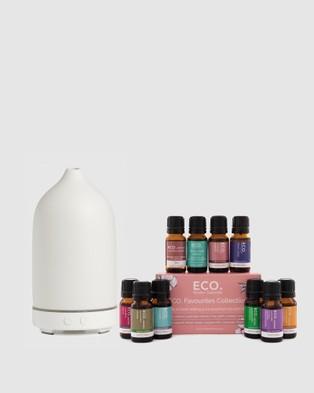 ECO. Modern Essentials ECO. Stone Diffuser & Favourites Collection - Essential Oils (Stone)