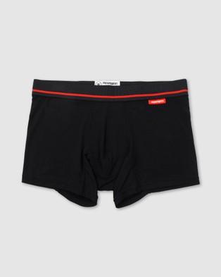 Mosmann 3 Pack Trunks - Boxer Briefs (Black)