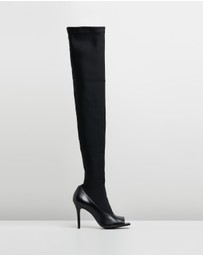 CAMILLA AND MARC - Alexis Peep-Toe Stocking Boots