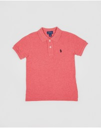 Cotton Mesh Polo Shirt - Kids