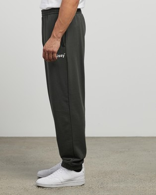 Stussy Text Fleece Trackpants - Sweatpants (Flight Green)