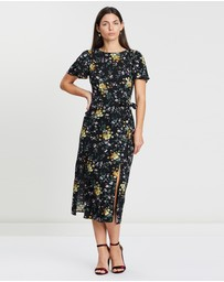 Oasis - Frieda Ditsy Split Hem Dress