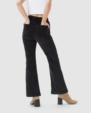 Cools Club High Rise Flare - Pants (Black Cord)
