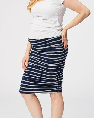 Cake Maternity Tiramisu Maternity Skirt - Pencil skirts (Navy)