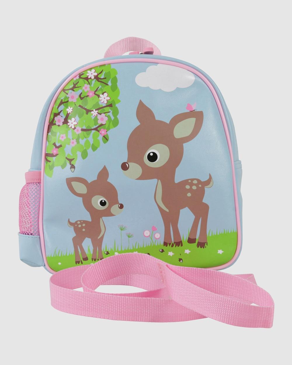 Bobbleart Toddler Backpack Woodland Animals Backpacks Light Blue