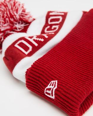 New Era NRL Knit Beanie Dragons Headwear Red