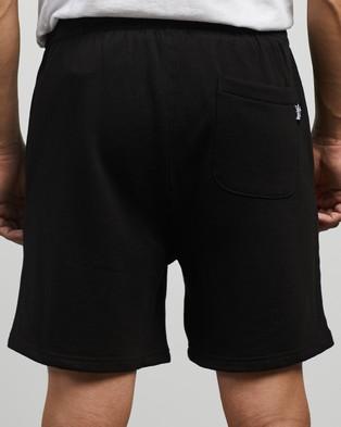 Stussy Text Fleece Shorts - Shorts (Black)