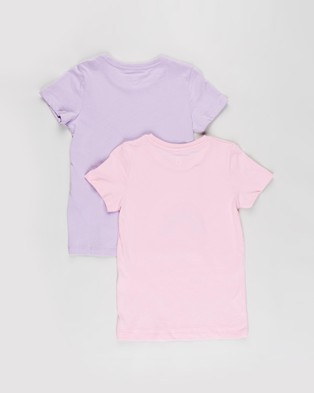 Cotton On Kids - Penelope Short Sleeve Tee 2 Pack   Kids Teens - T-Shirts & Singlets (Summer Violet Malibu & Cali Pink Glitter Rainbow) Penelope Short Sleeve Tee 2-Pack - Kids-Teens