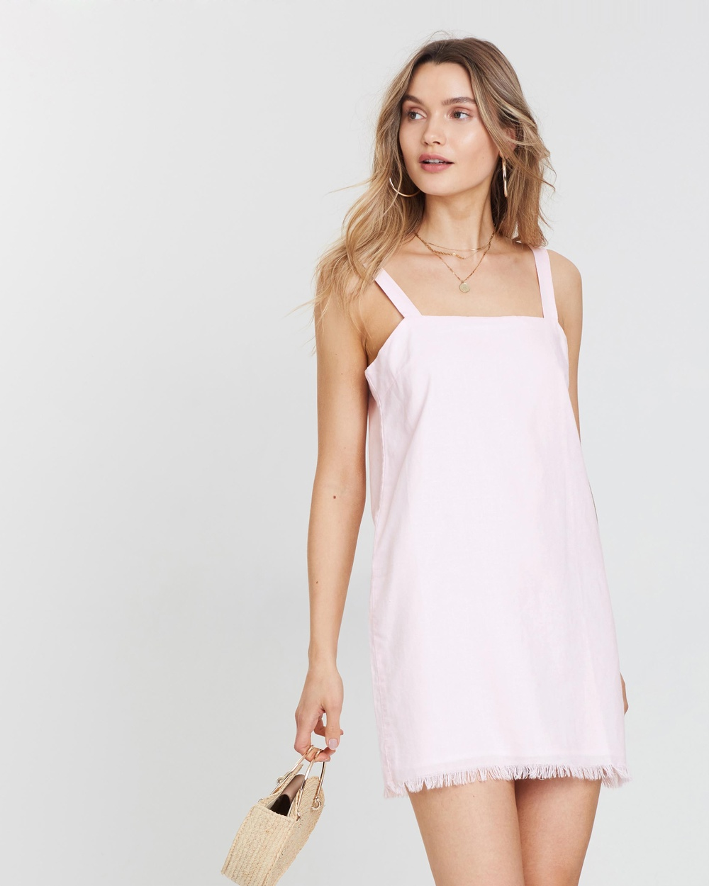 Nude Lucy Pink Sand Albion Linen Dress