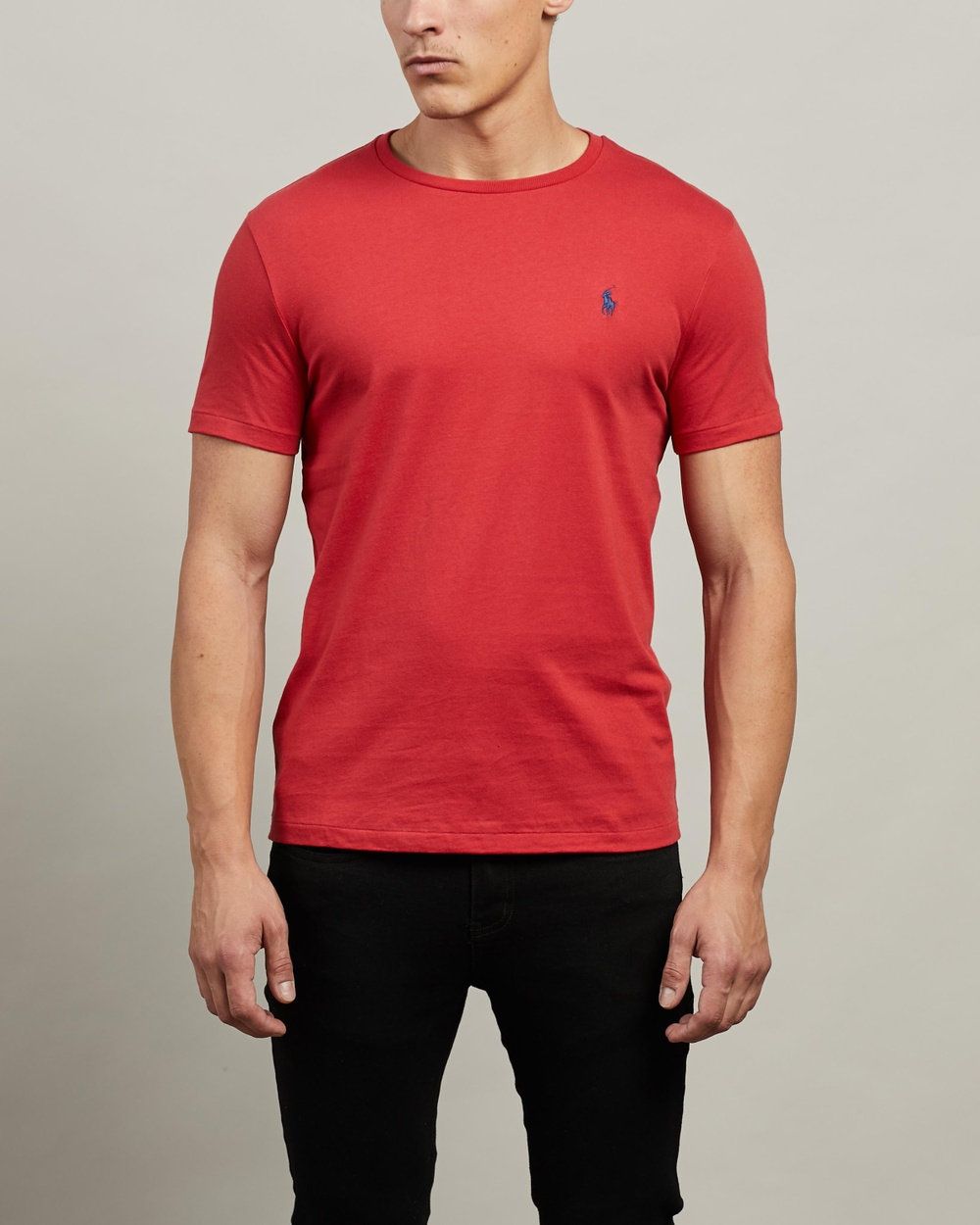 Polo Ralph Lauren - ICONIC EXCLUSIVE   Short Sleeve T Shirt - T-Shirts & Singlets (Evening Post Red) ICONIC EXCLUSIVE - Short Sleeve T-Shirt