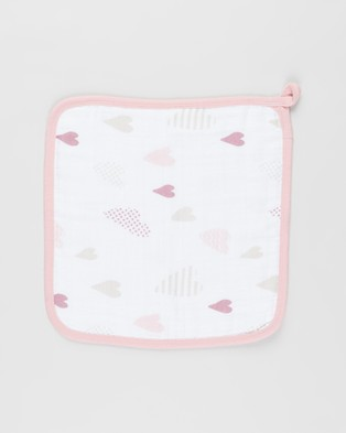 Aden & Anais Muslin Backed Hooded Towel Set - Towels (Heartbreaker)