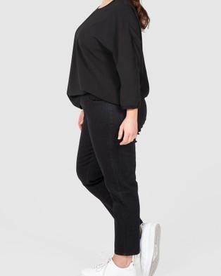 Love Your Wardrobe Ankle Grazer Black Stretch Jeans - Crop (Black)