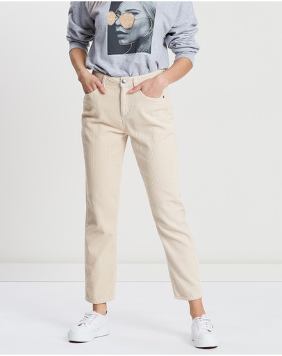 All About Eve Greta Cord Pants Vintage White