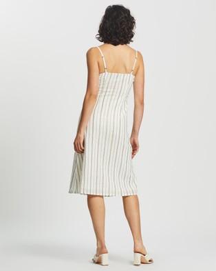 KAJA Clothing Goldie Dress - Dresses (Gold Stripe)