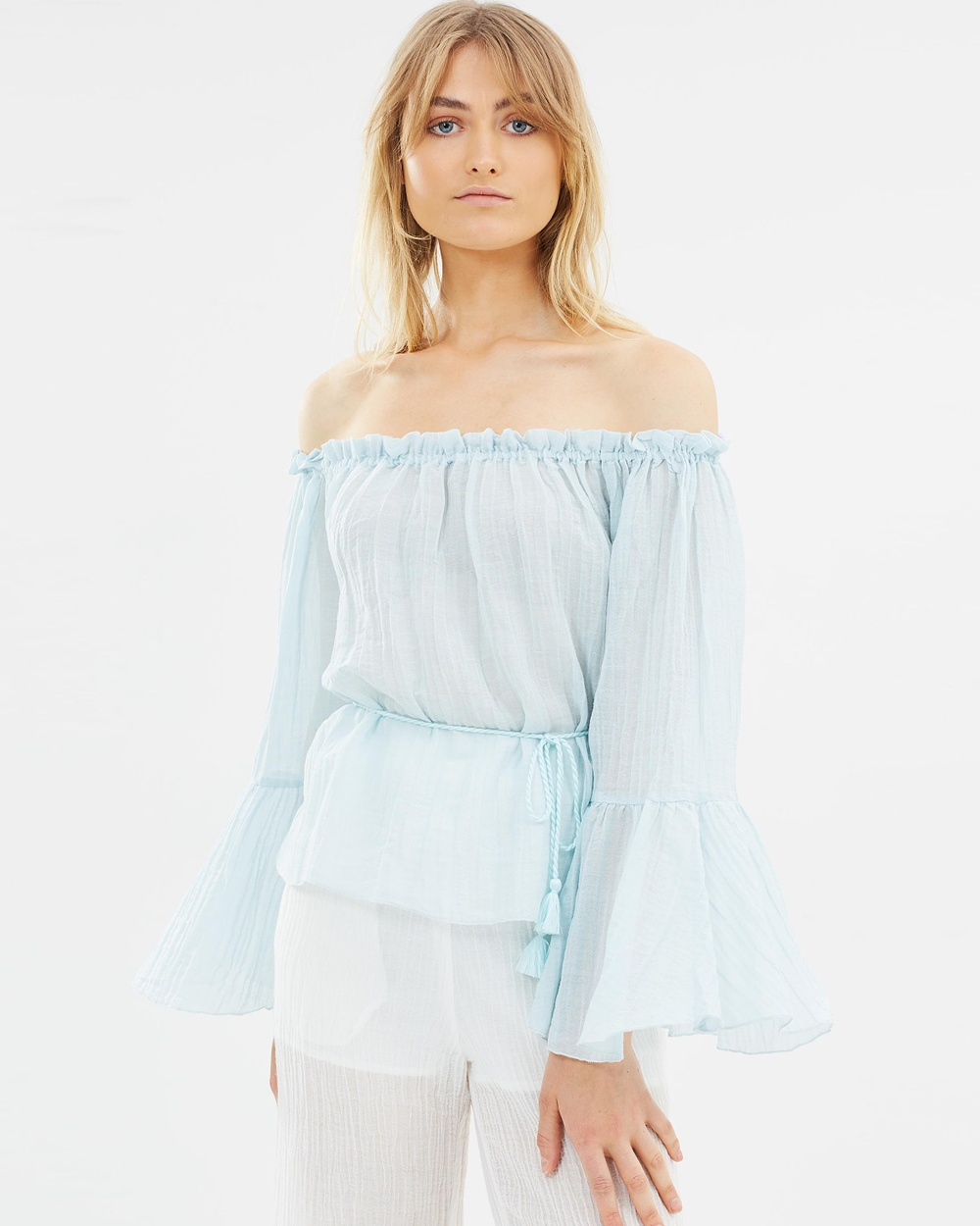 Hansen & Gretel Meg Top Tops Baby Blue Meg Top