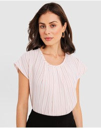 Forcast - Kathleen Stripe Top