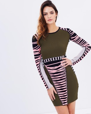 Asilio – String Theory Knit Dress – Bodycon Dresses (Olive, Candy, Ice White, Caviar & Grey)