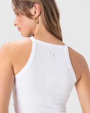 Cools Club - Badge Rib Tank T-Shirts & Singlets (White)