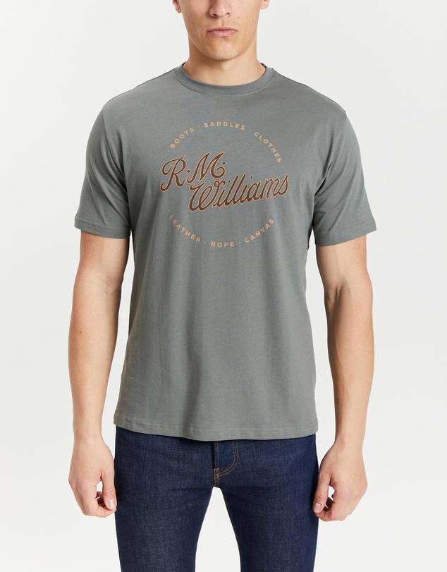 Men Script Stamp T-Shirt