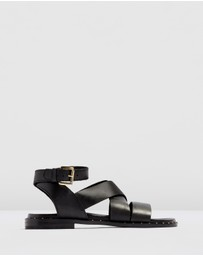 TOPSHOP - Hampton Footbed Sandals - Wide Fit