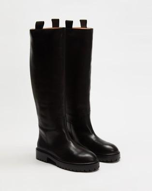 Alias Mae - Maine Knee-High Boots (Black Burnished)