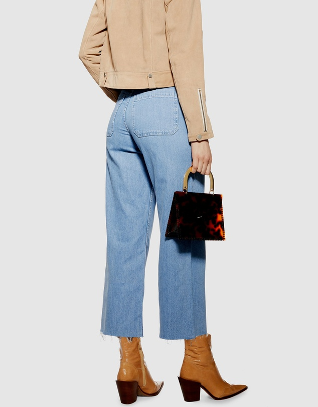 TOPSHOP - Bleach Cropped Jeans
