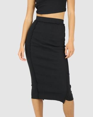 Dakota501 Deconstructed Midi Skirt - Skirts (Black)