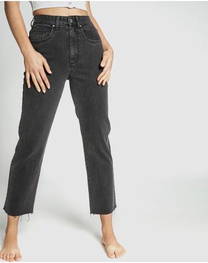 Cotton On Straight Stretch Jeans Stonewash Black