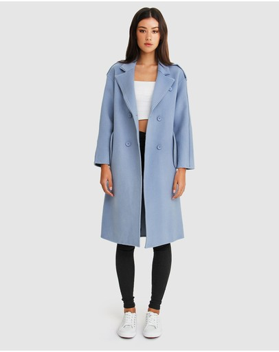 Belle & Bloom Aussie Sky Double-breasted Wool Coat