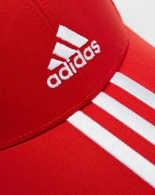 adidas Performance Baseball 3 Stripes Twill Cap - Headwear (Vivid Red & White)