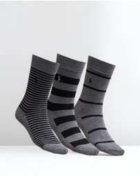 Polo Ralph Lauren - 3-Pack Assorted Stripes Socks