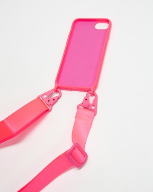 Chuchka Nylon Silicone Lanyard Phone Case Strap - Tech Accessories (Neon Pink)