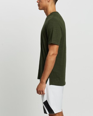 adidas Performance - Train Elevated Tee Short Sleeve T-Shirts (Wild Pine)