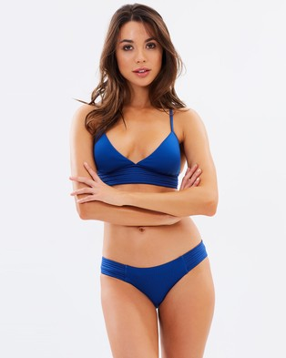 Seafolly – Quilted Hipster Bikini Bottoms French Blue