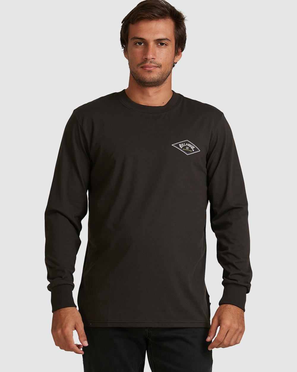 Billabong - Adiv Diamond Long Sleeve Tee - T-Shirts & Singlets (BLACK) Adiv Diamond Long Sleeve Tee