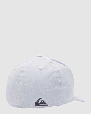 Quiksilver Mens Sidestay Flexfit Hat - Headwear (Heather Grey)